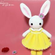衣饰可穿脱的萌萌兔宝贝钩针玩偶编织视频教程