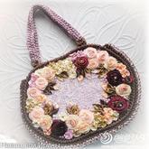 不一樣的鉤包 簡單實用緞帶花朵鉤針包包制作方法
