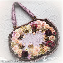 不一样的钩包 简单实用缎带花朵钩针包包制作方法