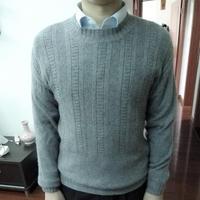 Burberry改版轻简时尚男士棒针羊绒衫