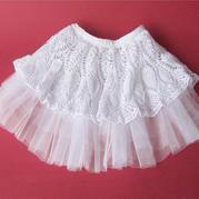 公主梦 松紧半身软硬纱内衬菠萝花公主裙