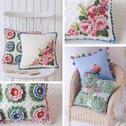 四季皆适合的居家美饰 手工编织创意绣花钩花抱枕4款