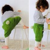男女宝宝都适合的萌可爱棒针短裤编织图解