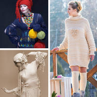 编织服饰设计欣赏   乌克兰编织艺术家Svetlana Rogal 流动的线条美