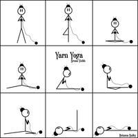 编织爱好者又发现一种健康编织方式:针织瑜珈