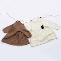 雀之翎 儿童棒针叶子花插肩长袖连衣裙编织视频教程(3-3)
