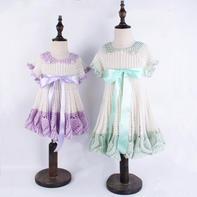 萌朵朵小仙裙(2-1)缎带与毛线结合的钩针公主裙编织视频教程