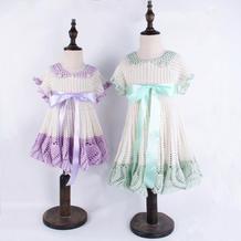 萌朵朵小仙裙(2-2)缎带与毛线结合的钩针公主裙编织视频教程