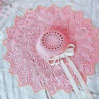 貌(帽)美如花  超美的宽檐女士钩针蕾丝帽