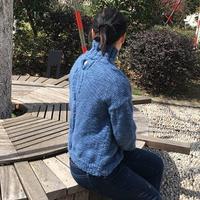 春诗 无限风光在后背的女士棒针麻花套头毛衣