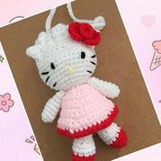 萌可爱立夏蛋袋编织:kitty立体蛋袋