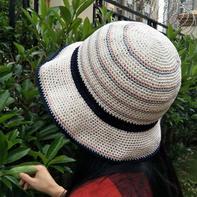 一天即可完成的茵曼同款女士钩针棉草帽