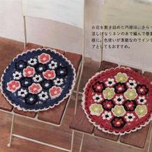 美美的钩针双层立体拼花座垫编织图解