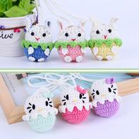 KT猫钩针蛋袋(2-1)立夏端午毛线编织蛋袋编织视频系列