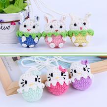小兔子钩针蛋袋(2-2)立夏端午毛线编织蛋袋编织视频系列