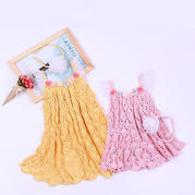 小玲珑公主裙(2-1)改版琳琅儿童钩针吊带大摆裙编织视频教程