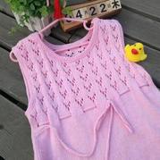溢彩 简单实用云朵儿童棒针背心裙