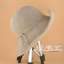 钩帽顶不鼓包小技巧 女士钩针渔夫帽