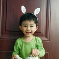 萌萌哒儿童钩针小白兔发箍