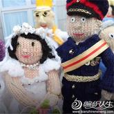 編織生活巨豐富的英國編織者在王子大婚之際又一次引來眾聲喝彩