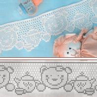经典方格也可以萌萌的 可爱钩针卡通图案方格编花样图案图解