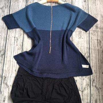 简单大气新手也可以轻松织的夏款短袖真丝衫
