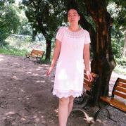 经典钩衣改版连衣裙 从领口往下钩女士短袖钩花裙