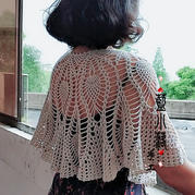 赏雪 春夏秋三季可用的唯美实用女士钩针小披肩