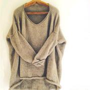 编织达人都爱织的毛衣 简约大牌女士棒针休闲宽松大毛衣