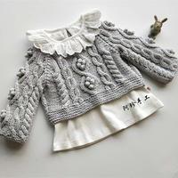 小豌豆 仿淘宝款粗针织时尚休闲棒针婴幼儿套头毛衣