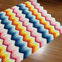 适合这个季节彩虹钩针小毯子