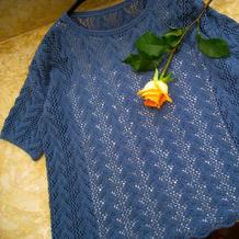 情结 适合任何身形的R网款女士棒针镂空衫