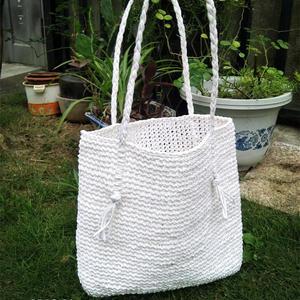 棉草季 女士钩针心相印棉草包
