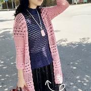 青青草 女士钩针蕾丝小高领套衫