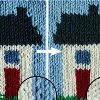 纵向换色颜色更均匀的编织小技巧 棒针编织技巧教程