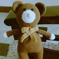 小熊与小朋友一起过六一 钩针小熊编织图解