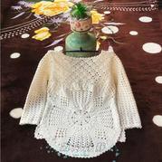 梨花調  4股棉編織前短后長經典兒童裙式上衣