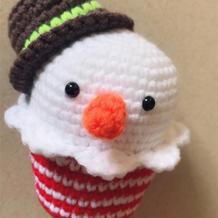 有趣可爱钩针蛋糕雪人玩偶编织图解