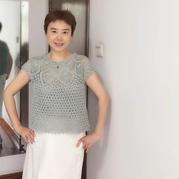 小清新 优雅女士钩针菠萝套衫