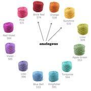 毛線編織顏色搭配如何才好看 色彩理論3個基本知識點助你快速選顏色