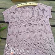 紫燕穿 好织好穿的棒针镂空短袖上衣