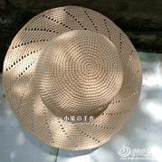 夏季遮阳帽棉草拉菲钩针帽子编织视频(2-2)
