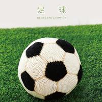 为世界杯助威 毛线编织钩针足球编织视频教程