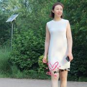 初夏的小茉莉 简单简洁女士棒针无袖连衣裙
