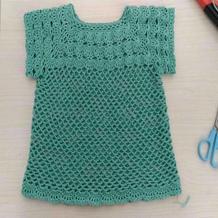 绿韵 细针细线成人改版夏款儿童钩针短袖