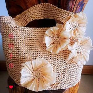 夏季女士钩针棉草手提包钩法说明