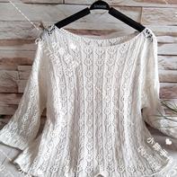 兄弟970家用编织机机织女士镂空花长袖与半裙