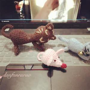 长相守  趣味编织猫和老鼠编织图解