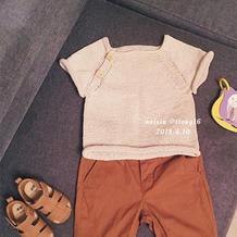 1-2岁夏款宝宝棒针短袖T恤