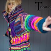 想像力沸腾、无与伦比的彩色毛线编织品 编织设计师Tricotcolor作品欣赏